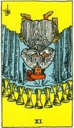 Taro korta - apversta Taurių 9