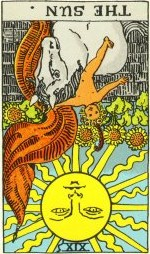 Taro korta - apversta Saulė