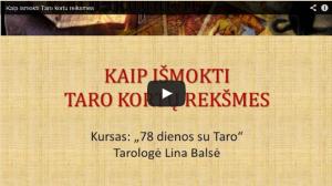 Video paskaita – Kaip išmokti Taro kortų reikšmes